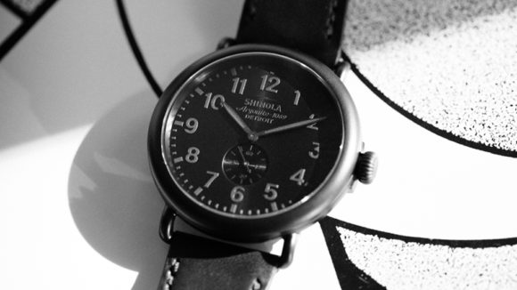 Shinola Runwell All Black Watch