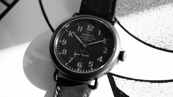 Shinola Runwell All Black Watch