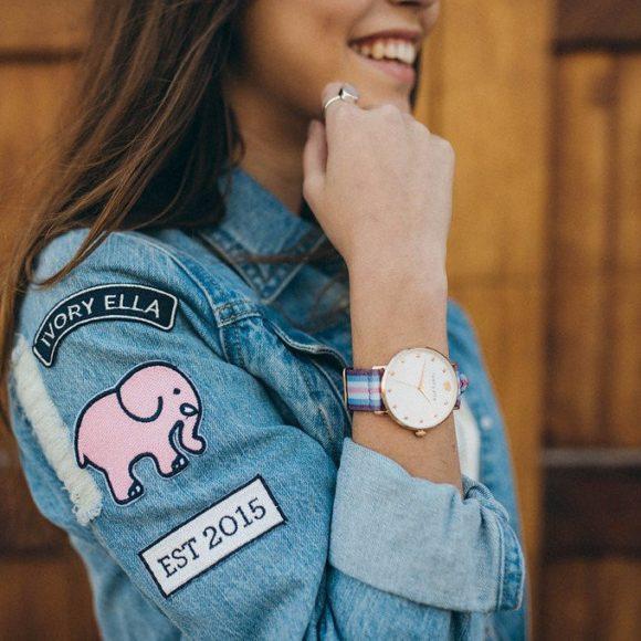 Ivory Ella Pink Rose Gold Watch