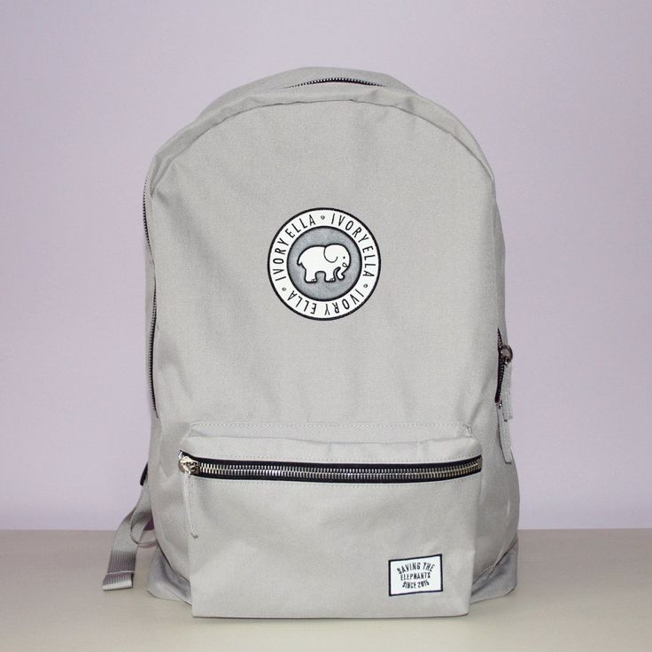 Ivory Ella Grey Backpack Chill Things