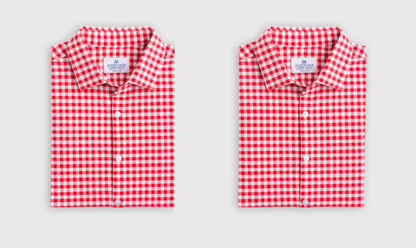Mizzen+Main Hatteras Red Check Dress Shirt