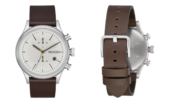 Nixon Station Chrono - Leather Watch