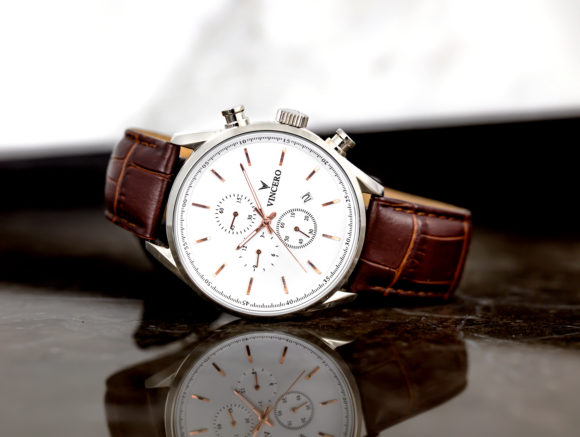 Vincero Chrono S in Silver/Rose Gold