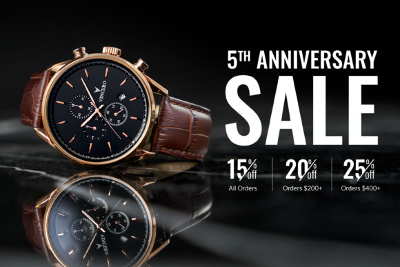 Vincero Watches Anniversary Sale