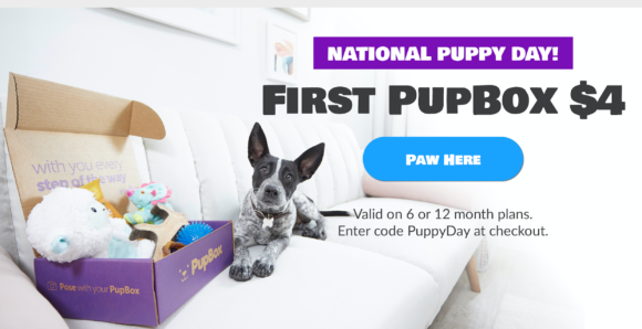 PupBox National Puppy Day Sale